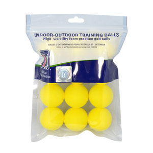 PGA Tour 12PK Yellow Foam Golf Balls