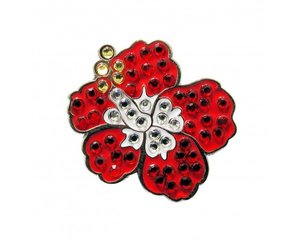 Navika Hibiscus Red Ball Marker