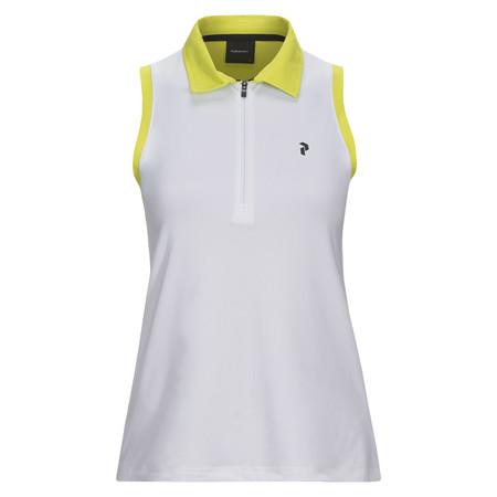 Peak Performance Women's Zip Sleeve-Less Golf Piqué