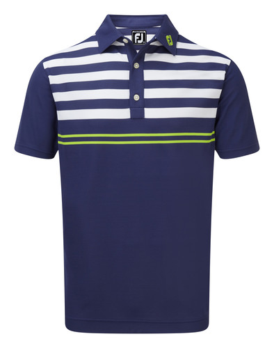Footjoy Smooth Pique With Graphic Stripes