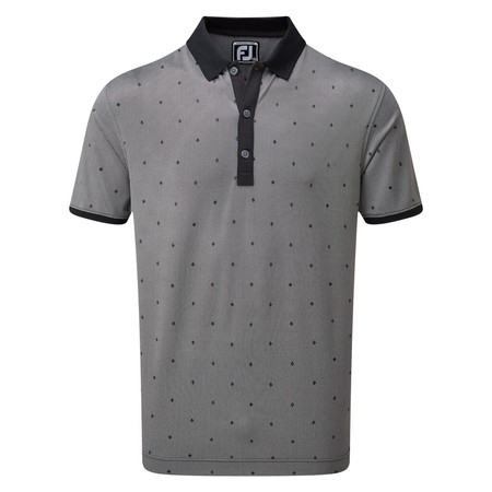 FootJoy Birdseye Argyle Print with Knit Collar