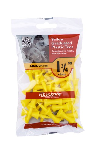Plastic Graduated Tees 1 3/4 Bag 30 Yellow