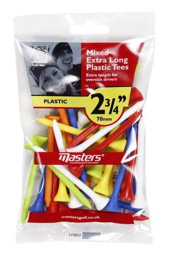 """Plastic Tees  Bag 30 2 3/4"""" Mixed"""