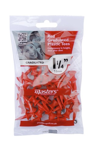 Plastic Graduated Tees 1 1/4 Bag 35 Red