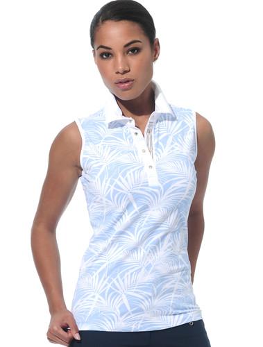 MDC Meryl Print Polo Shirt Sleeveless