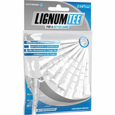 Lignum Tee 72 mm White 12 Pcs