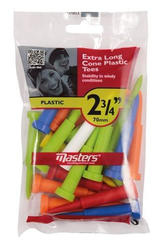Cone Tees Extra Long 2 3/4 - 70mm Mixed Bag 15pcs
