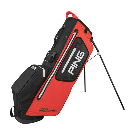 Ping Hoofer Monsoon Stand Bag Scarlet Black White