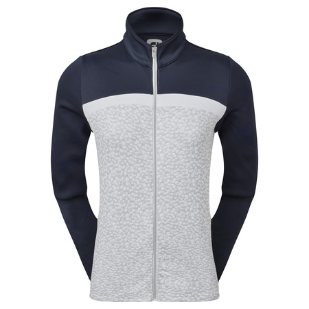 FootJoy Women's Full-Zip Curved Colour Block Midlayer