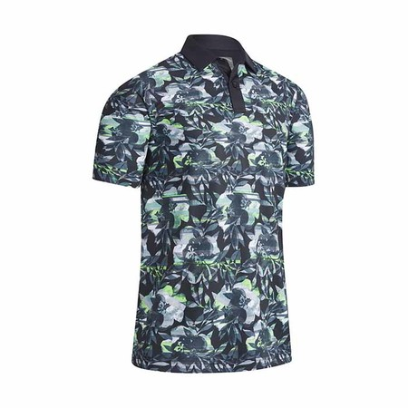 Callaway Structural Printed Floral Polo
